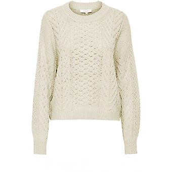 b.young Otinka Beige Cable Knit Jumper