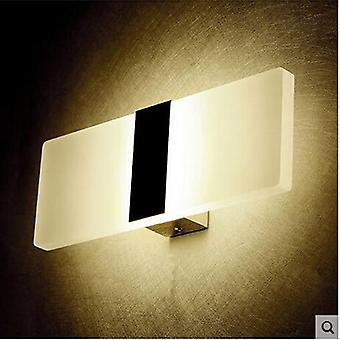 mini ledet akryl lang vegg lampe for soverom