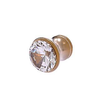 Carolina Crystal Collection Cabinet Knob - Bronce cepillado