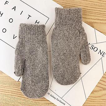 Dublu-strat de rabbit hair gloves, versiunea de iarnă coreeană de culoare solidă Toate