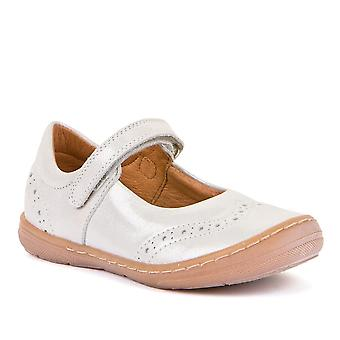 FRODDO Leather Mary Jane Shoe Silver