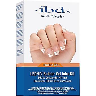 ibd LED/UV Self Levelling Hard Builder Gel Intro Kit - UV Clear, Clear, Intense White & Pink (4 X 14g) (215660)