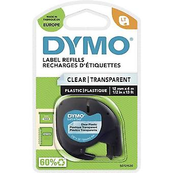 DYMO LT Labelling tape Tape colour: Transparent Font colour: Black 12 mm 4 m