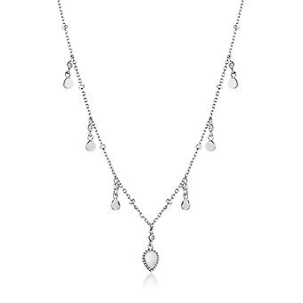 Ania Haie Silver Rhodium Plated Dream Drop Discs Necklace N016-02H