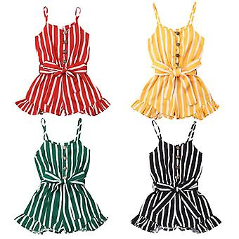 Sleeveless Striped Jumpsuit, Summer Overalls Playsuit