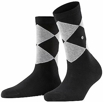 Burlington Darlington Socken - Schwarz/Grau