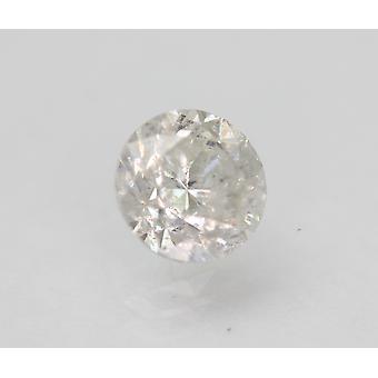 Sertifioitu 1,26 karat F SI2 pyöreä brilliant parannettu luonnollinen löysä timantti 6,57mm