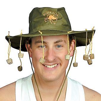Chapéu australiano com rolhas