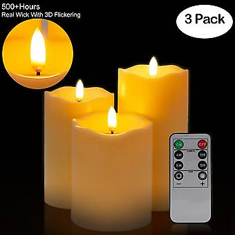 3pcs Remote Control Led Flameless Candle Light