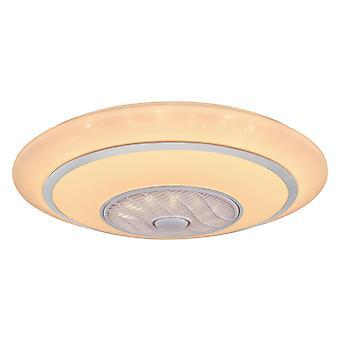 "Ceiling fan Rosario White 77cm / 30"" with LED light"