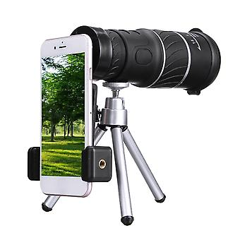 40X60 HD Monocular Telescope Outdoor Camping Hunting Telescope Monocular with Tripod  Mobile Phone C