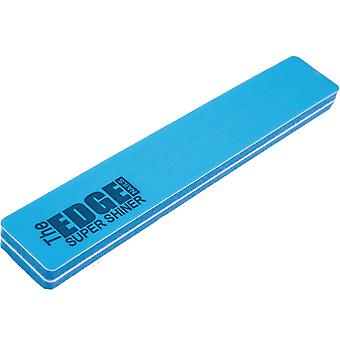 The Edge Nails Pro Nail Files & Buffers - Super Shiner - (BLUE) (Pack Of 10) (2066802)