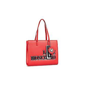 שקית אישה אהבה Moschino קניות Ecopelle אדום B21mo147