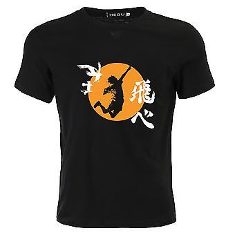 Haikyu Short Sleeves Crewneck Anime Summer T-shirts For Boys