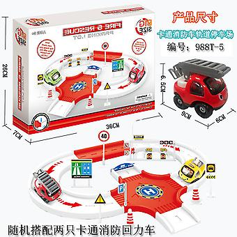 Children's cartoon fire truck track parking jouet