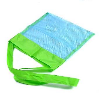 Suuri taittuva verkko laukku, käsilaukku ulkona rantatyökalu
