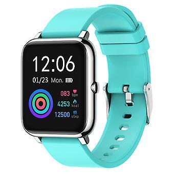 ساعة ذكية للجنسين مع IP67 للماء، GPS اللياقة البدنية النشاط تعقب عداد الخطى لالروبوت دائرة الرقابة الداخلية الزرقاء