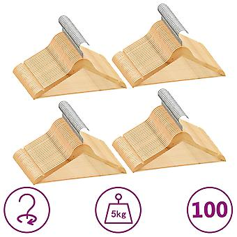 vidaXL 100 pcs. hanger set non-slip hardwood
