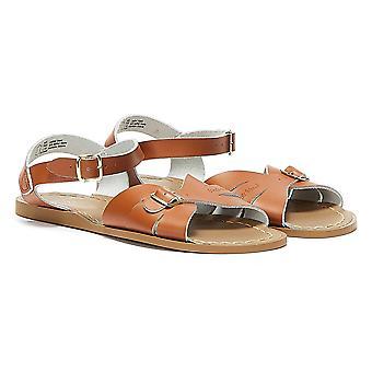 Salt Water Classic Womens Tan Sandals
