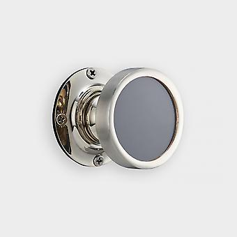 Brass Interior Door Knob - Grey