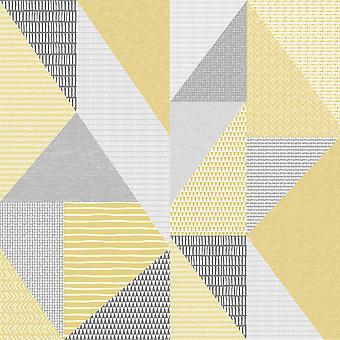 Larsson Geo Ochre Wallpaper