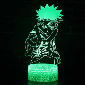 3D Illusion Lampa 7 kolory Optyczna zmiana Touch Light USB i pilot art deco Make A Romantic Atmosphere Christmas Valentine's Birthday Gift -Naruto #174