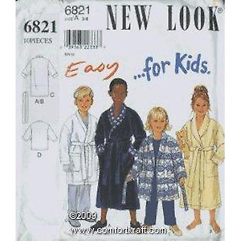 New Look Sewing Pattern 6821 Child Boy Girl Robe Size 3-8