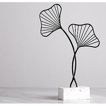 Estilo nórdico inspirou acessórios de folha de decoração modernas criativas em bases de terrazzo