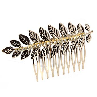 Baroque Style Greece Goddess Bridal Leaf Hair Comb Silver Gold Hair Piece Wedding Crystal Hair Accessories Hair Jewelry
