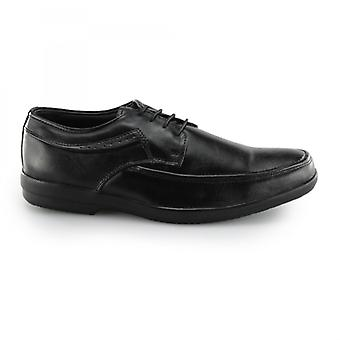 Fleet & Foster Dave Mens Leather Derby Shoes Black