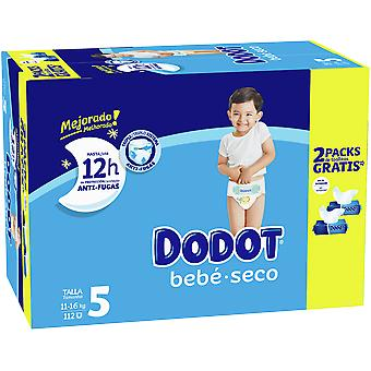 Dodot Box Diapers Stages Size 5 112 units + Wipes 2 units