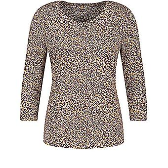 Gerry Weber T-Shirt 3/4 Arm, Yellow/Purple/Pink Print, 52 Woman