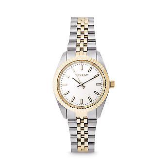 Tayroc launton 31mm silver gold analog watch