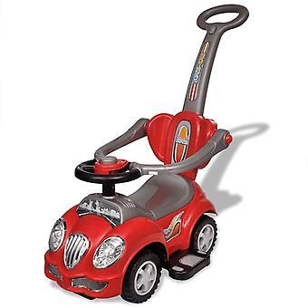 Rotes Kinder-Aufsitz-Auto mit Schubstange