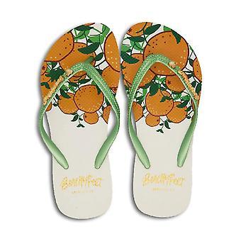 BeachyFeet Womens/Ladies Naranja Flip Flops
