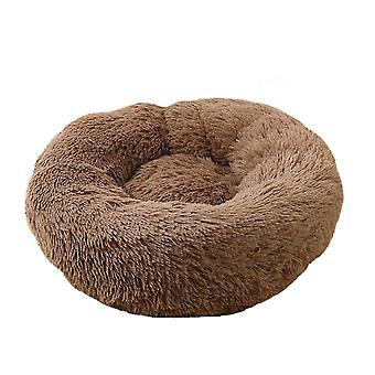 60X20cm kávé kutya macska bedround önmeleg nyugtató kisállat bedsoft kiskutya kanapé x7835