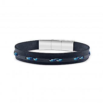 Bracelet Homme  Zeades ROUF Abyss.LB - ZMB02715 Cuir Bleu