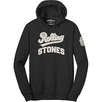The Rolling Stones - Team Logo & Tongue Men's Large Pullover Hoodie - Black