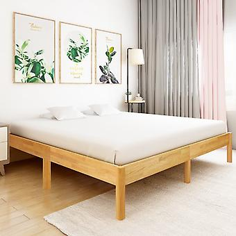 Marco de la cama roble macizo 180x200 cm