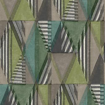 Green Geometric Wallpaper
