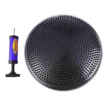 Aufgeblasene Stabilität Wackeln Kissen Extra Dicke Kern Balance-Disc Wiggle Sitz für die Verbesserung der Kernstärke Linderung rückenschmerzen