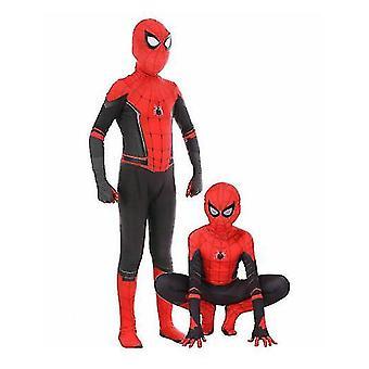 Långt hem Spiderman Cosplay Kostym Kostym Outfit (110cm-120cm)