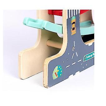 Ramp Race Track Juguetes con mini coches de madera para niños y niños pequeños(GROUP1)
