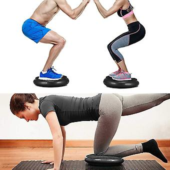 Wobble Cushion Stability Balance Disc Fitness Core Trainer Wiggle Pad For Home(BLACK)