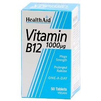 HealthAid Vitamiini B12 1000ug Pitkittynyt Vapautuminen Välilehdet 50 (801080)