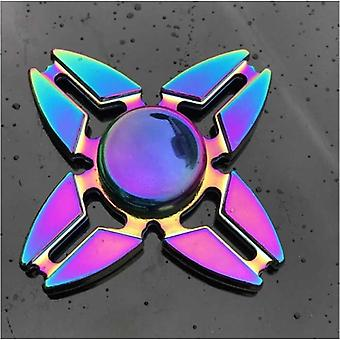 Tavarasertifioitu® Fidget Spinner - Stressinvastainen spinneri Lelu R118 Metallikroma
