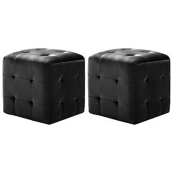 vidaXL nattbord 2 stk. svart 30x30x30 cm fløyel stoff