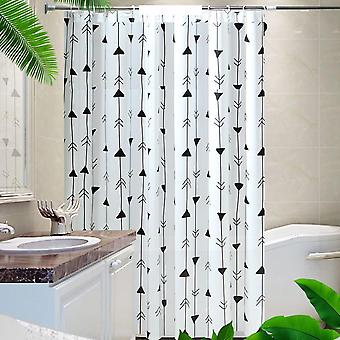 Swotgdoby Simple Nordic Style Arrow Print Shower Curtain