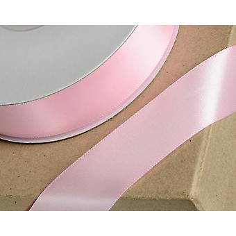 25m baby rosa 6mm bred sateng bånd for håndverk