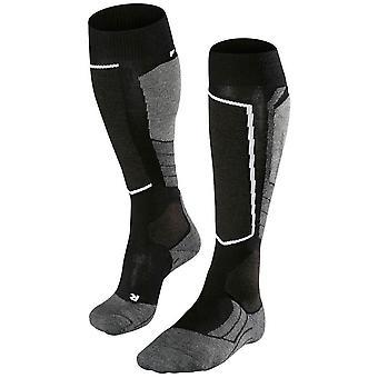 Falke chaussettes de laine moyenne 2 ski - noir Mix